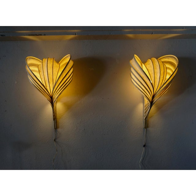 White Mid-Century Modern Wall Sconces by William Leslie - a Pair For Sale - Image 8 of 8