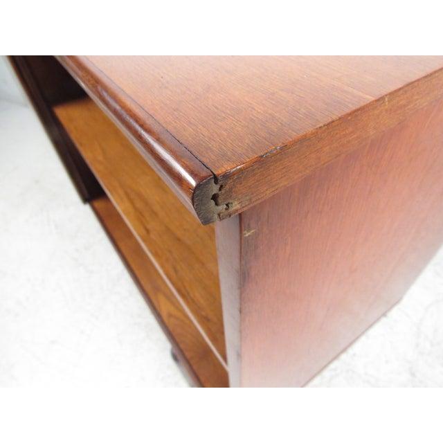 Compact Scandinavian Modern Teak Cabinet For Sale - Image 10 of 13