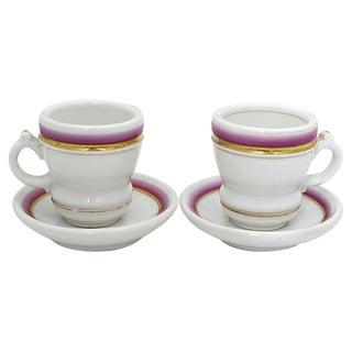 Antique French Tasse Brûlot Cups, a Pr For Sale