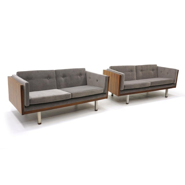 Pair of Case Settees or Loveseats and Chair in Rosewood by Jydsk Møbelværk For Sale - Image 9 of 11