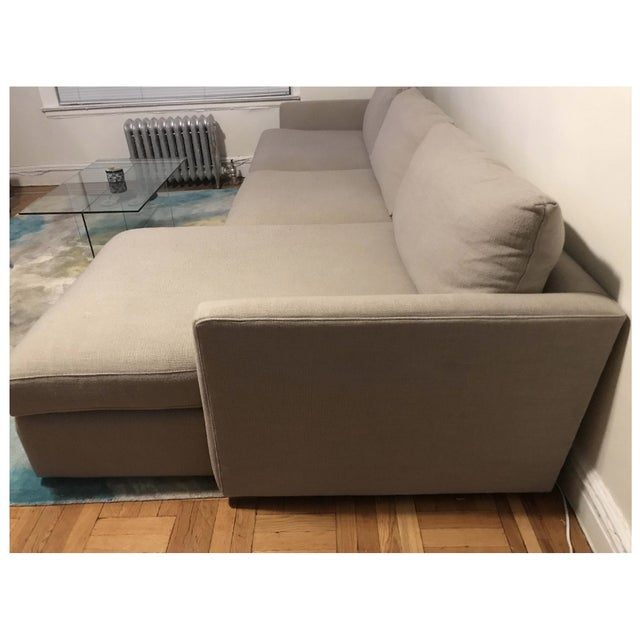Crate Barrel Lounge Ii 2 Piece Sectional Sofa Chairish
