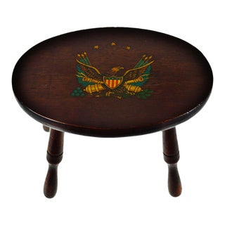 Vintage American Eagle Foot Stool For Sale