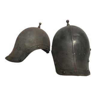 1930s Reproduction Ancient Roman Soldiers Helmets - A Pair For Sale