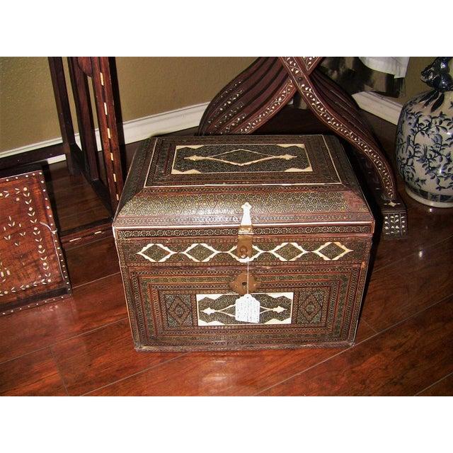 Bone 18c Indo Portugese or Persian Vargueno Mini Cabinet For Sale - Image 7 of 13