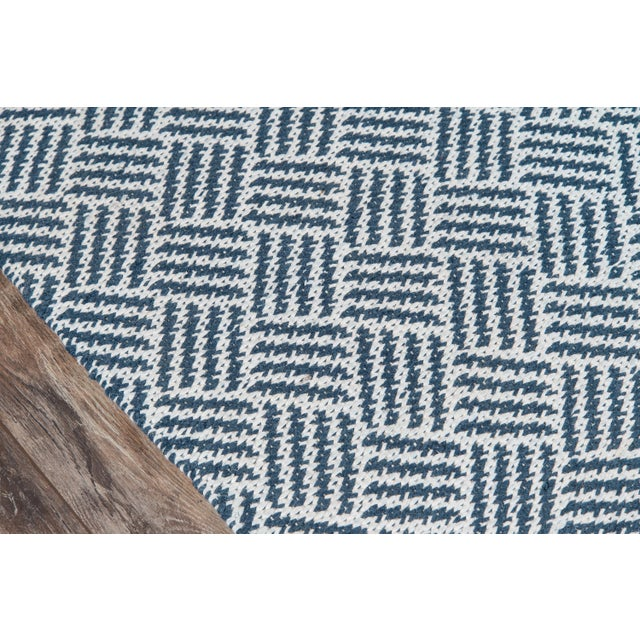 """Contemporary Madcap Cottage Baileys Beach Beach Club Navy Indoor/OutdoorArea Rug 3'6"""" X 5'6"""" For Sale - Image 3 of 7"""
