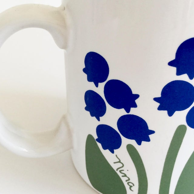 1980s 1983 Nina Lily of the Valley Coffee Mug For Sale - Image 5 of 9