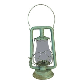 Rustic Monarch Green Railroad Lantern For Sale