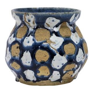 Hand Made Blue Ceramic Pot