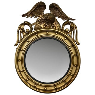 1900s English Traditional Gilded Bullseye Mirror For Sale