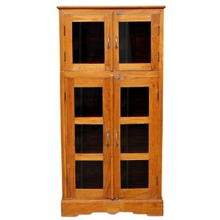 British Colonial Bookcase with Brass and Iron