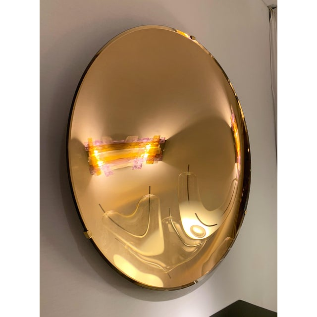 Italian Contemporary Curve Convex Mirror For Sale - Image 9 of 11