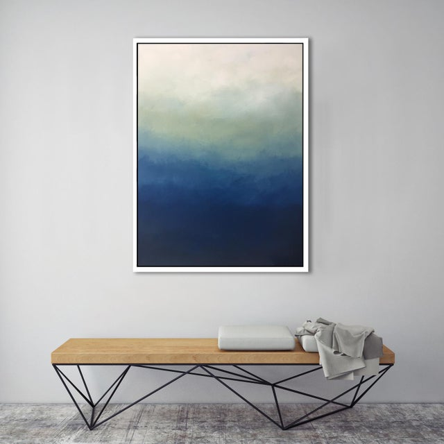 """Abstract Blue Ombre"" Framed Giclée - Image 3 of 3"