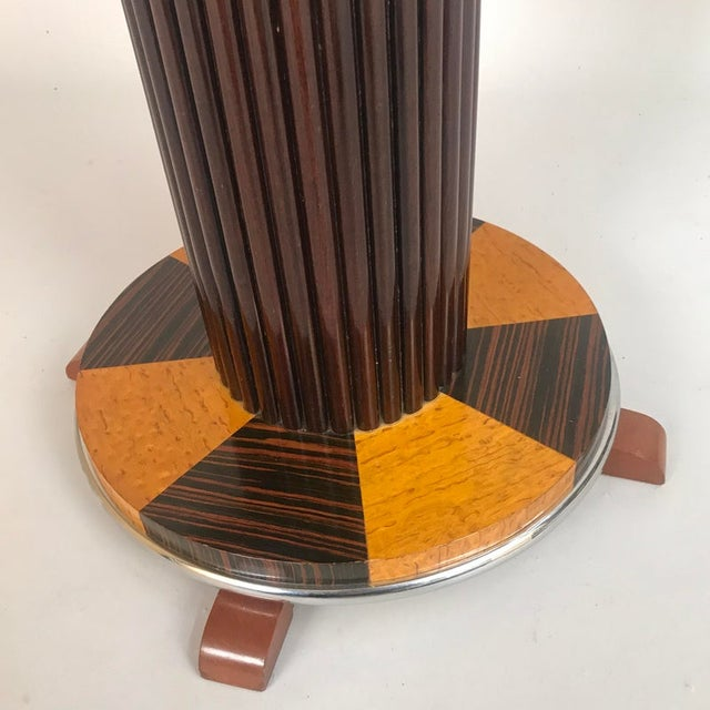 Art Deco 1930s Art Deco Macassar and Tiger Maple Side Table For Sale - Image 3 of 9
