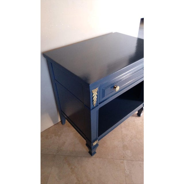 Drexel San Remo High Gloss Blue Nightstand - Image 3 of 6