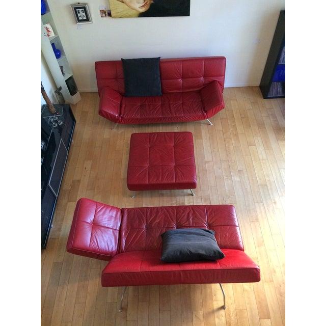 "2000s Ligne Roset ""Smala"" Sofa Set & Pillows - Set of 3 For Sale - Image 5 of 8"