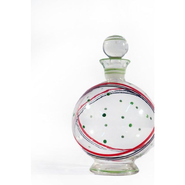Czech Glass Decanter Set - Set of 7 For Sale - Image 5 of 6