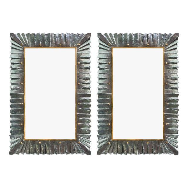 Murano Glass Aqua Mirrors For Sale - Image 10 of 10