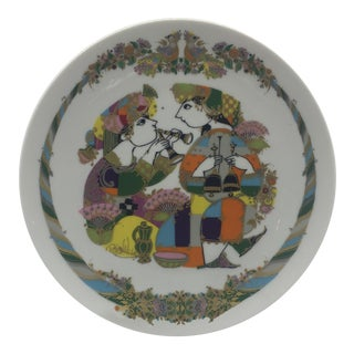 Rosenthal Germany Bjorn Wiinblad Plate For Sale
