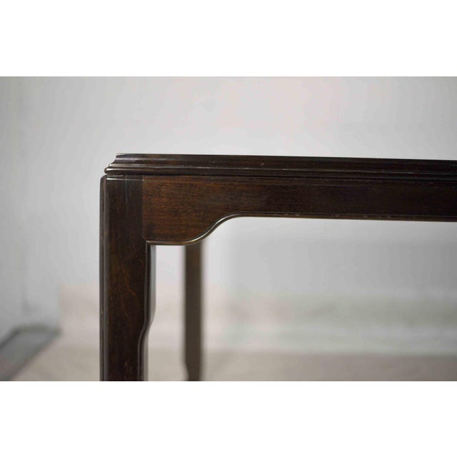 Wood 1970s Chinoiserie Burlwood Dining Table by Century Furniture For Sale - Image 7 of 12