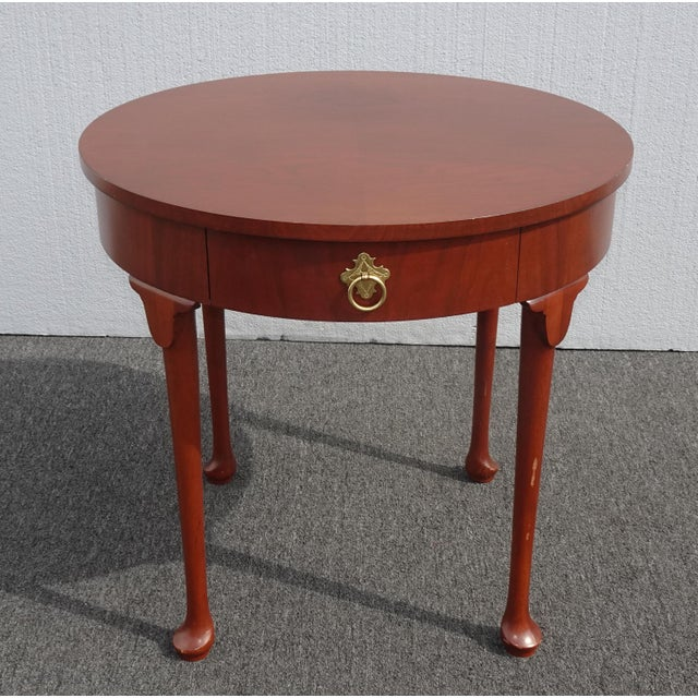 Vintage French Country Side Table Mahogany Color by Baker Furniture Co. For Sale - Image 13 of 13