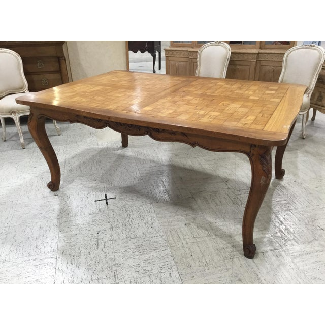 Late 19th Century French Parquetry Top Dining TBle For Sale - Image 5 of 9