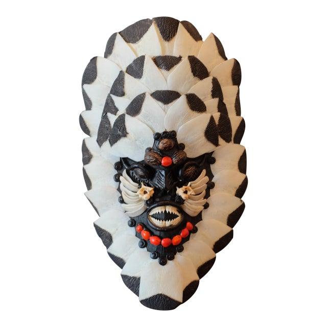 Brazilian Tribal Piranha Teeth & Fish Scale Mask - Image 1 of 4