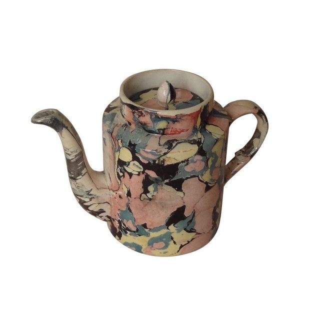 Ceramic A Sarreguemines Tea Pot For Sale - Image 7 of 7