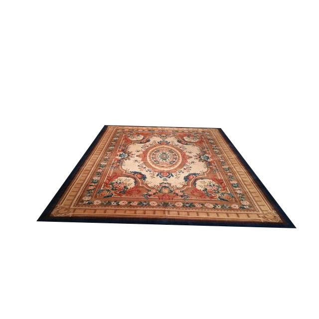 """Aubusson Design Wool Rug - 9'8"""" X 13' - Size Cat. 10x13 10x14 For Sale"""