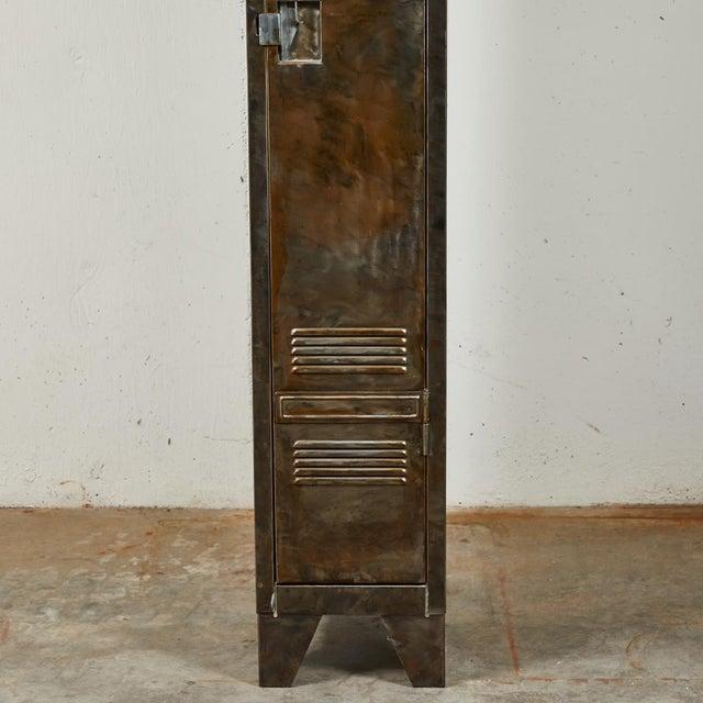 German Industrial Metal Lockers, circa 1940 - A Pair For Sale - Image 9 of 10
