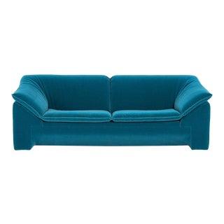 """Niels Eilersen """"Arizona"""" Sofa by Jens Juul Eilersen Teal Mohair, 1970"""