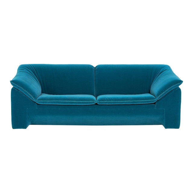 "Niels Eilersen ""Arizona"" Sofa by Jens Juul Eilersen Teal Mohair, 1970 For Sale"