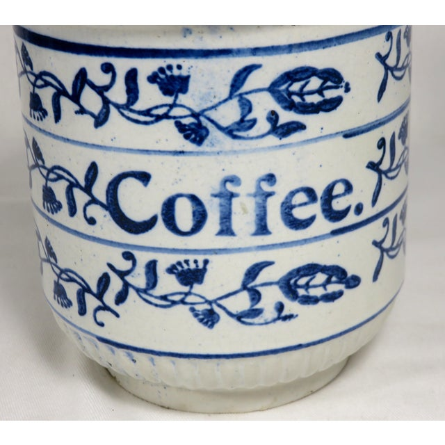 1900 - 1909 Antique American Stoneware Kitchen Coffee Jar For Sale - Image 5 of 13
