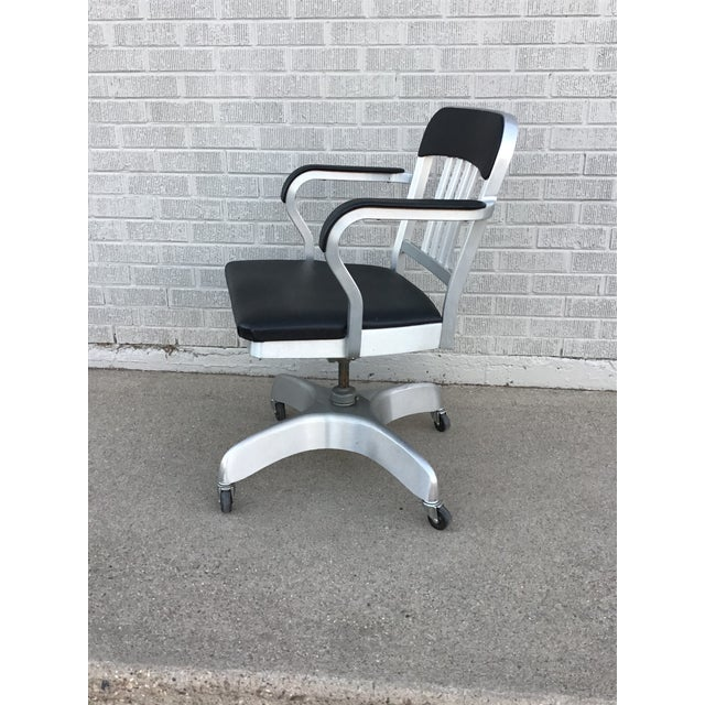 Vintage Emeco Rolling Office Chair For Sale In Denver - Image 6 of 13
