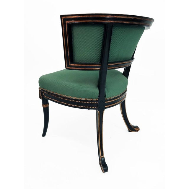 Frederick P. Victoria & Son, Inc. Windsor Model Regency Style Tufted Cove Back Chair For Sale - Image 4 of 6