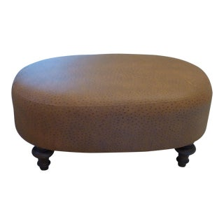 Leather Covered Ottoman