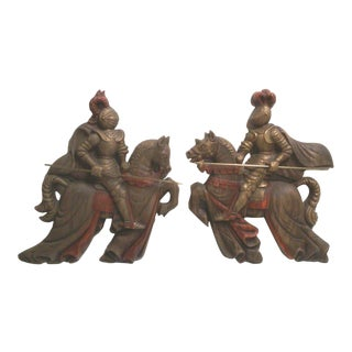 Mid-Century Trojan Soldier Wall Hangings-A Pair