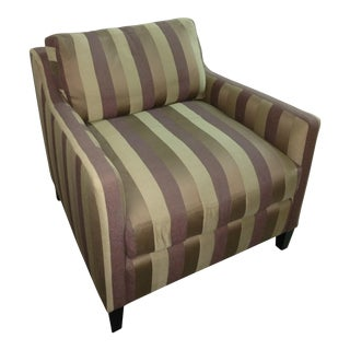 O. Henry House Striped Club Chair For Sale