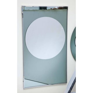 Rectangular and Round Modernist Mirrors with 3d Circles - A Pair Preview