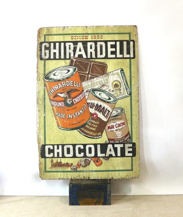 Wall Sized 1915 Chocolate Billboard Ghirardelli Sf Sign   Image 3 Of 6