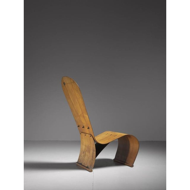 Herbert Von Thaden Bent Plywood Lounge Chair, USA, 1940s For Sale - Image 6 of 10