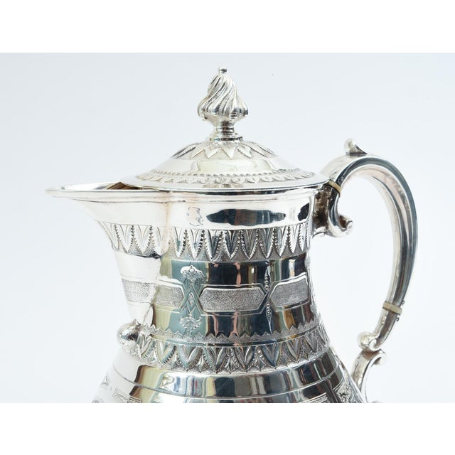 Sheffield English Silver Plate Ornate Detailed Tea / Coffee Pot For Sale - Image 4 of 10