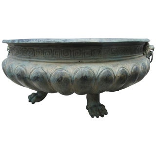Bronze Planter With Four Reptile Feet For Sale