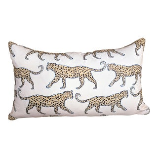 Blush Leopard Print Lumbar Pillow For Sale