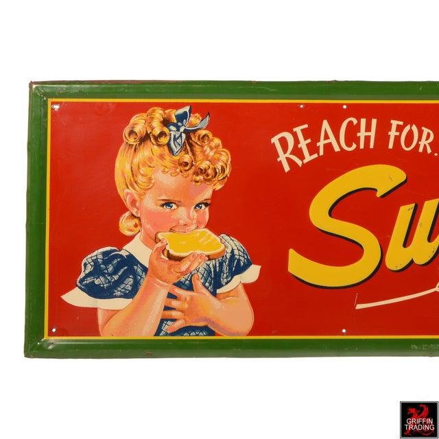 Figurative Vintage Sunbeam Bread Sign For Sale - Image 3 of 10