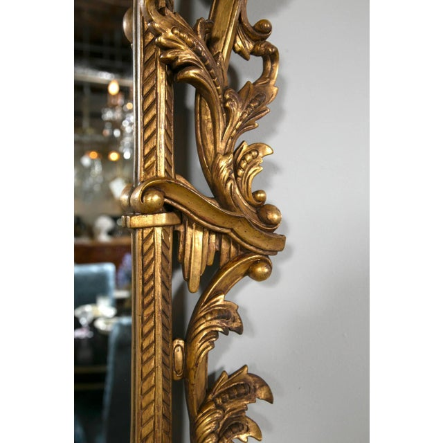 Gold Chippendale-Style Giltwood Carved Mirrors - A Pair For Sale - Image 8 of 8