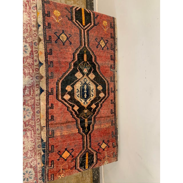 2010s Vintage Persian Rug Ottoman Table For Sale - Image 5 of 11