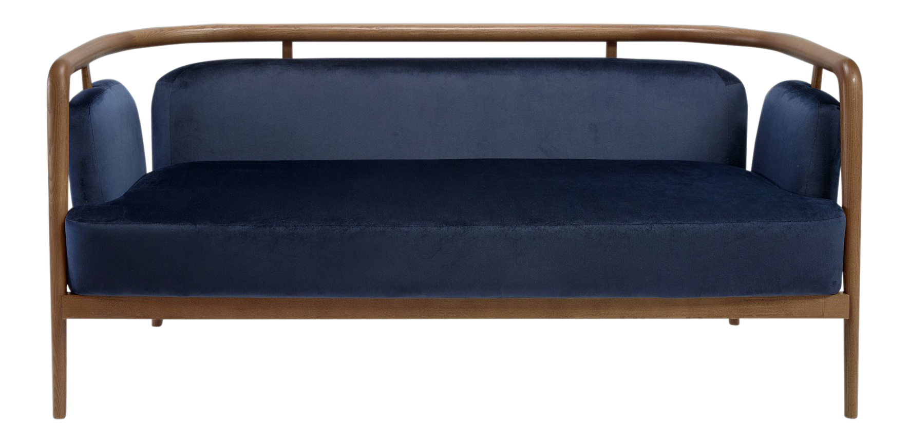 Fine Contemporary Midcentury Modern Walnut Sofa | DECASO