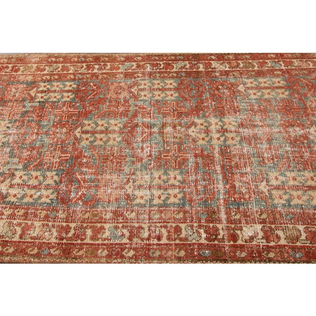 "Apadana-Antique Persian Distressed Rug, 3'4"" X 13'7"" For Sale In New York - Image 6 of 11"
