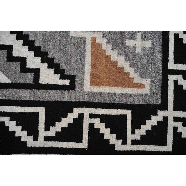 "Vintage 1920s Navajo Geometric Rug - 3′6″ x 73"" - Image 10 of 11"