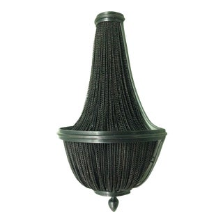Restoration Hardware French Empire Chainmail Wall Sconce For Sale